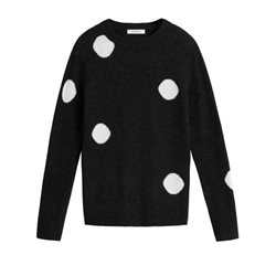 Sandwich Clothing Spot Pullover Black