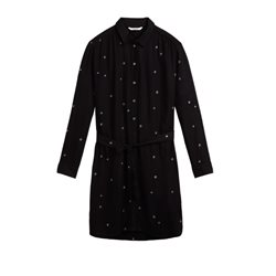 Sandwich Clothing Star Detail Shirt Dress Black