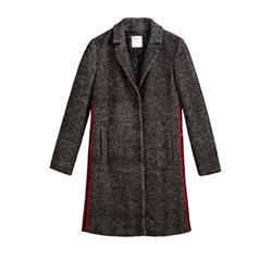 Sandwich Clothing Herringbone Coat Black