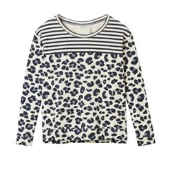 Sandwich Clothing Animal Print Pullover White
