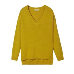 Sandwich Clothing Sweater With Ribbed Sides Yellow