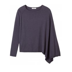 Sandwich Clothing Poncho Sweater Graphite