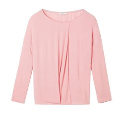 Sandwich Clothing Wrap Effect Top Blush