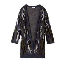 Sandwich Clothing Camouflage Cardigan Graphite