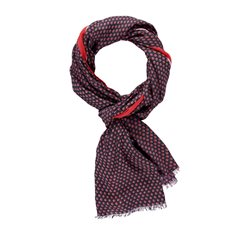 Taifun Tiny Dot Print Scarf Red