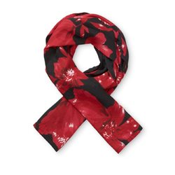 Masai Floral Along Scarf Red