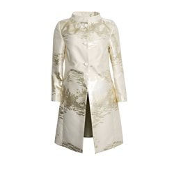 Fee G Gold Lurex Statement Coat