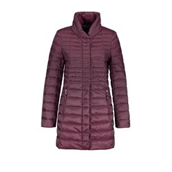 Gerry Weber Quilted Long Coat Wine
