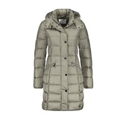 Gerry Weber Quilted Coat With A Hood Mushroom