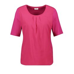 Gerry Weber Chiffon Front Short Sleeved Top Pink