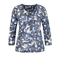 Gerry Weber Abstract Print Blouse Blue