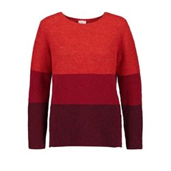Gerry Weber Box Style Striped Jumper Red