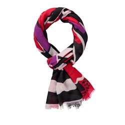 Gerry Weber Abstract Floral Print Scarf Red