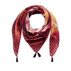 Gerry Weber Printed Scarf With Tassels Red