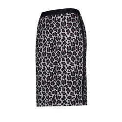 Gerry Weber Animal Print Skirt Navy