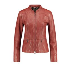 Gerry Weber Leather Jacket Cinnamon