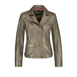 Gerry Weber Leather Jacket Khaki