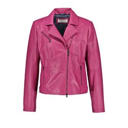 Gerry Weber Leather Jacket Magenta