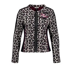 Gerry Weber Leopard Patterned Jacket Indigo