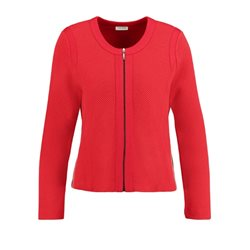 Gerry Weber Textured Zip Jacket Red