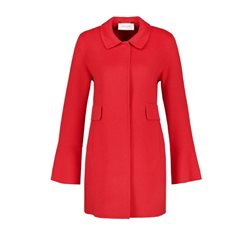 Gerry Weber Short Coat With Flounce Sleeves Red