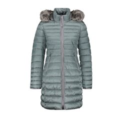 Gerry Weber Quilted Coat With Fur Trim Jade Teal
