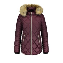 Gerry Weber Hooded Quilted Coat Wine