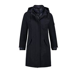 Gerry Weber Coat With Quilted Inset Navy