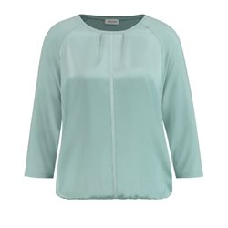 Gerry Weber Long Sleeve Top With Satin Front Mint