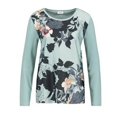 Gerry Weber Top With A Floral Front Panel Mint