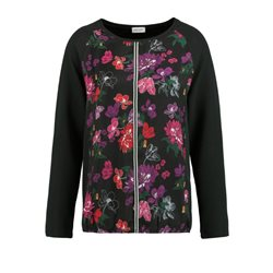Gerry Weber Patchwork Floral Top Black