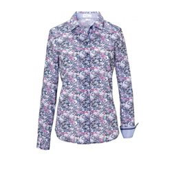 Erfo Forest Print Cotton Shirt Blue