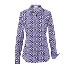 Erfo Circle Print Shirt Purple