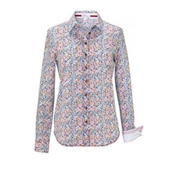 Erfo Multi Printed Cotton Shirt Red