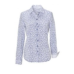 Erfo Printed Cotton Shirt Blue