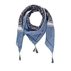 Taifun Floral Patterned Scarf Blue
