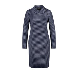 Taifun Jacquard Dress With Stretch Navy