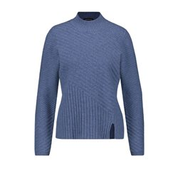 Taifun Textured Knit Jumper Blue