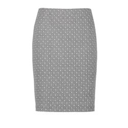 Taifun Stretch Skirt With A Jacquard Pattern Grey
