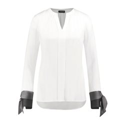 Taifun Blouse With Contrasting Details White