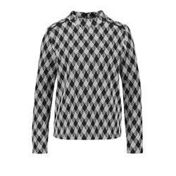 Taifun Check Patterned Pullover Black