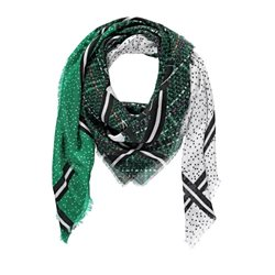 Gerry Weber Patchwork Patterned Scarf Green