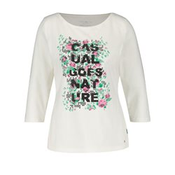 Gerry Weber Slogan Print Top Off White