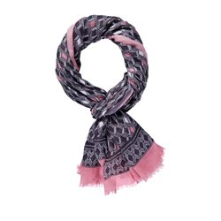 Taifun Diamond Pattern Scarf Black