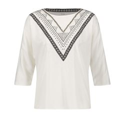 Taifun Ethnic Print Top Off-White