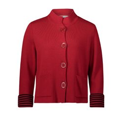 Betty Barclay Large Buttoned Cardigan Red