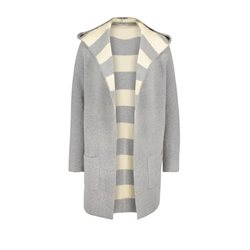 Betty & Co Hooded Long Cardigan Grey