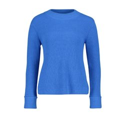 Betty & Co Ribbed Jumper Blue