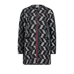 Betty & Co Patterned Sweatshirt Jacket Black