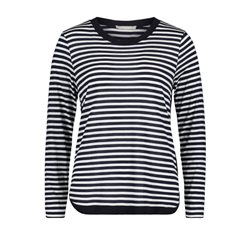 Betty & Co Striped Long Sleeve Top Navy